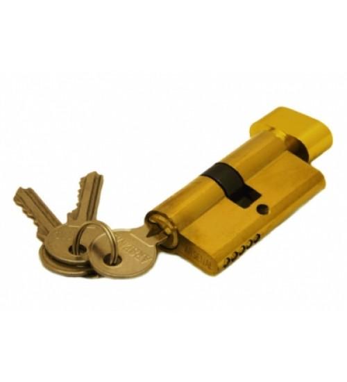 Ключевой цилиндр 60мм (ключ-завертка) золото