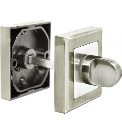 Завертка RUCETTI квадрат RAP WC-S SN/CP белый никель