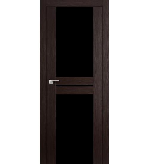 Дверь 10X венге мелинга черный триплекс Profildoors
