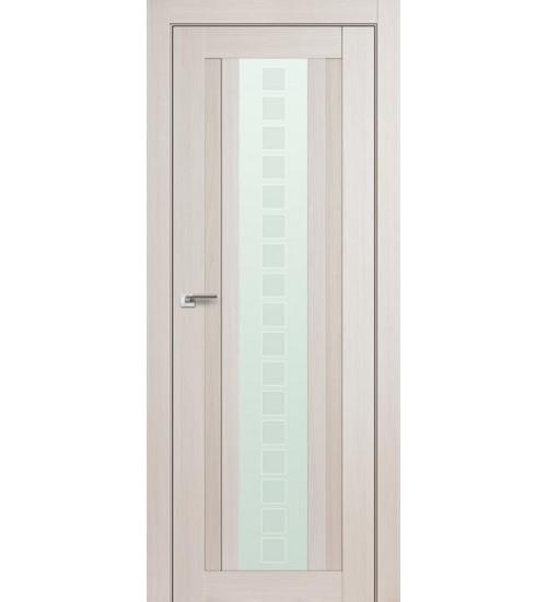 Дверь 16X эшвайт беленый дуб мелинга стекло Квадро Profildoors