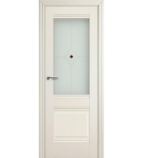 Дверь 2X Эшвайт белый ясень Узор