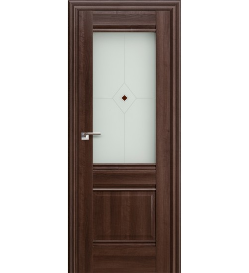 Дверь 2X Сиена темный орех стекло Узор PROFILDOORS