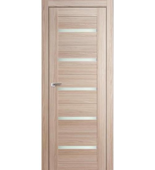 Дверь 7X капучино мелинга матовое стекло Profildoors