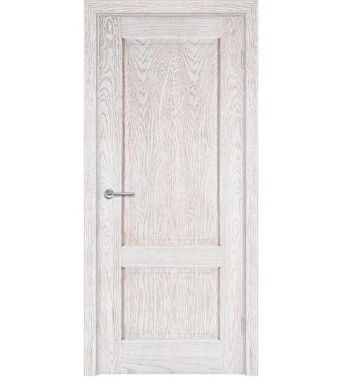 Дверь шпонированная А1-1 глухая ясень снежинка/Альфа