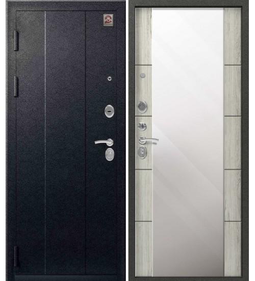 Стальная дверь Центурион С-104 черный муар/полярный дуб