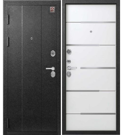 Стальная дверь Центурион С-108 серый муар/софт белый