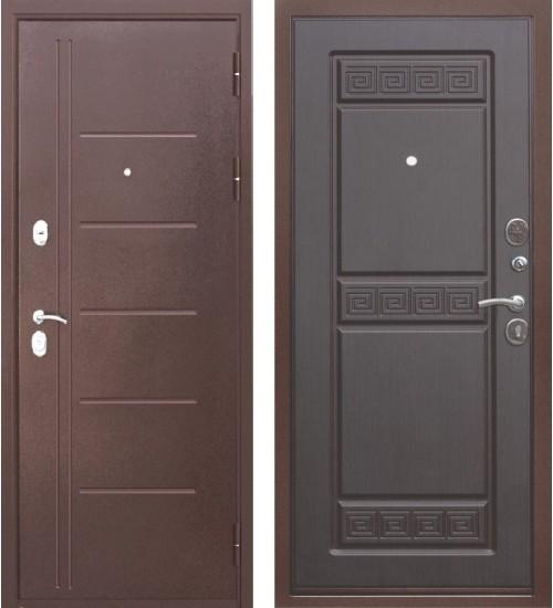 Входная дверь Троя антик медь/венге