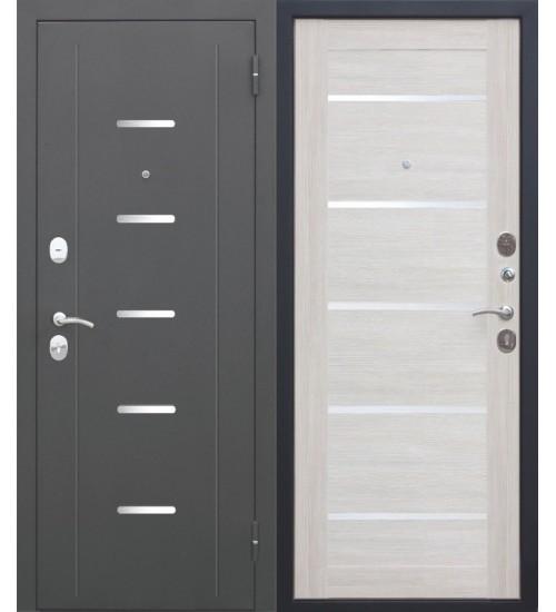 Стальная дверь Гарда 7,5 муар царга лиственница беж