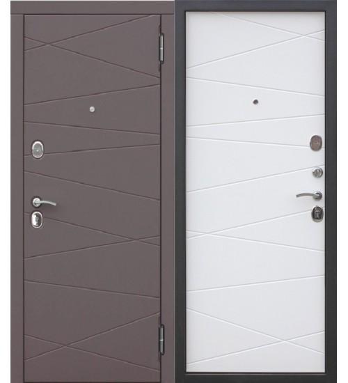 Входная дверь Верона 9,5см венге/сатин белый