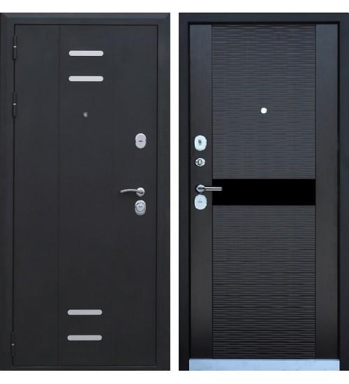 Стальная дверь Эталон А-9 черный шелк/венге