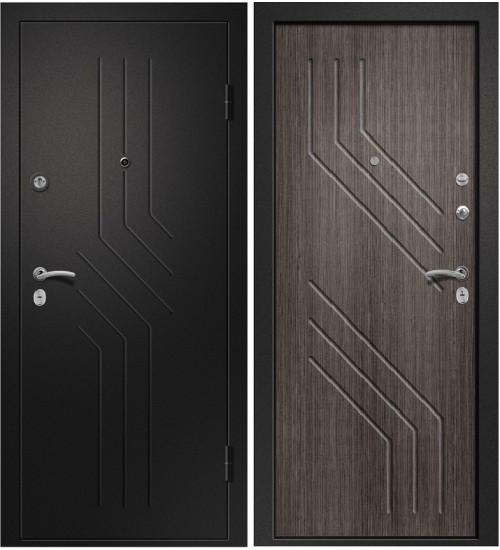 Стальная дверь Аризона-215 черный сатин/дуб грей
