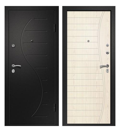 Стальная дверь Аризона-210 черный сатин/светлый дуб