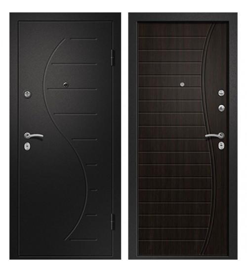 Стальная дверь Аризона-210 черный сатин/венге