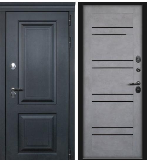 Дверь с терморазрывом Лайн термо лофт черный/бетон снежный
