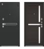 Металлическая дверь Центурион, LUX-3, черный муар/лиственница темная