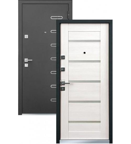Стальная дверь MASTINO PONTE черный шелк/шамбори светлая