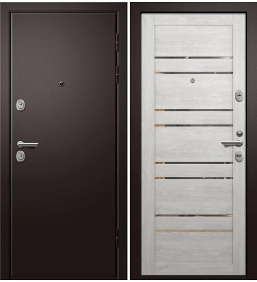 Стальная дверь Медея-340 Дублин сатин черный/дуб нордик