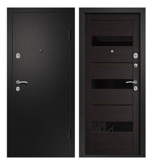 Стальная дверь Медея-320 сатин черный/кипарис темный