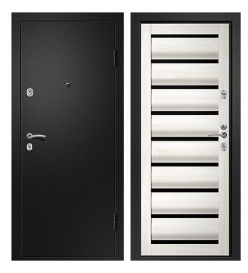 Стальная дверь Медея-320 Сидней сатин черный/белый кипарис