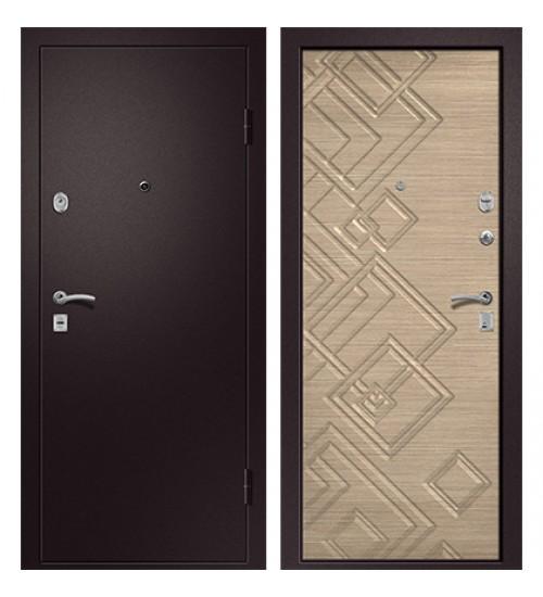 Стальная дверь Медея-330 сатин коричневый/светлый горизонт