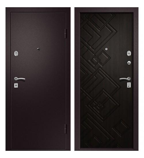 Стальная дверь Медея-330 сатин коричневый/венге