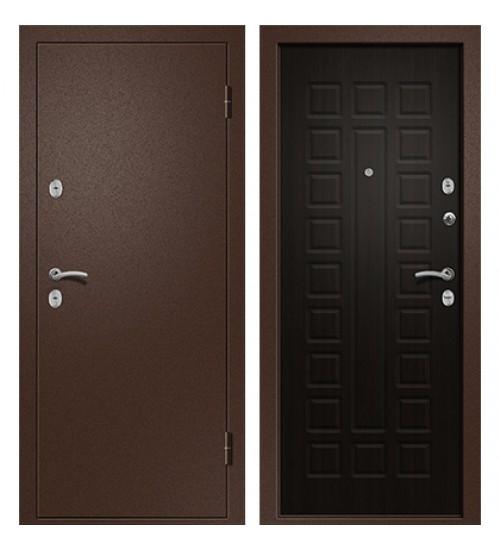Стальная дверь Ника-110 антик медь/венге