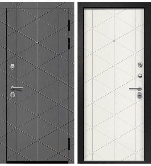Стальная дверь Орфей-201 вуд дуб графит/тангент перламутр
