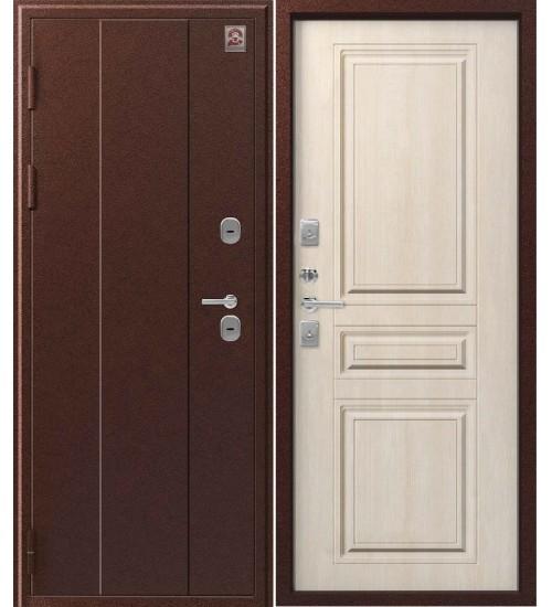 Металлическая дверь Т-6 Центурион антик медь/седой дуб
