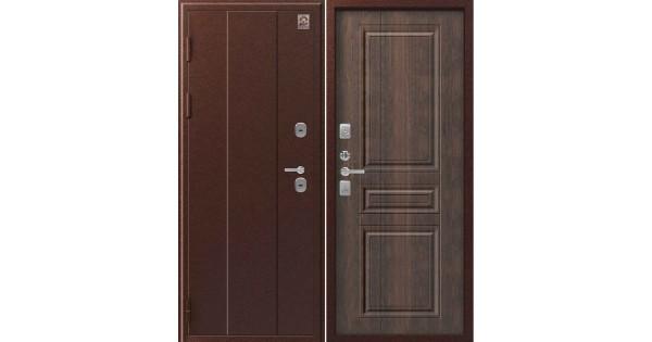 Металлическая дверь Т-6 Центурион антик медь/тиковое дерево