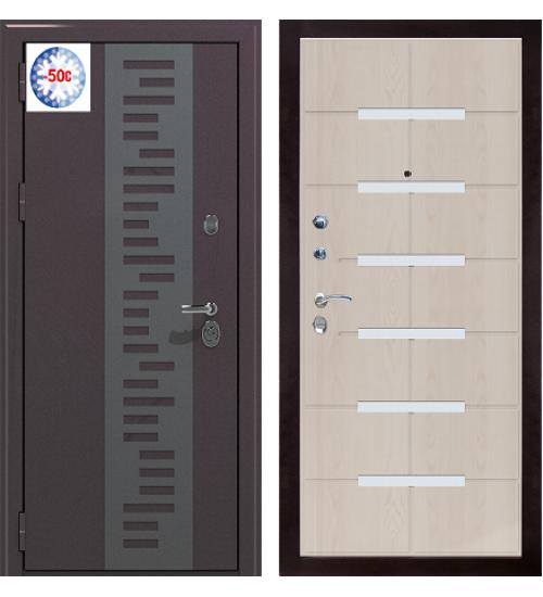 Стальная дверь BERSERKER TT2-G301 POLYTERM муар/лиственница белая