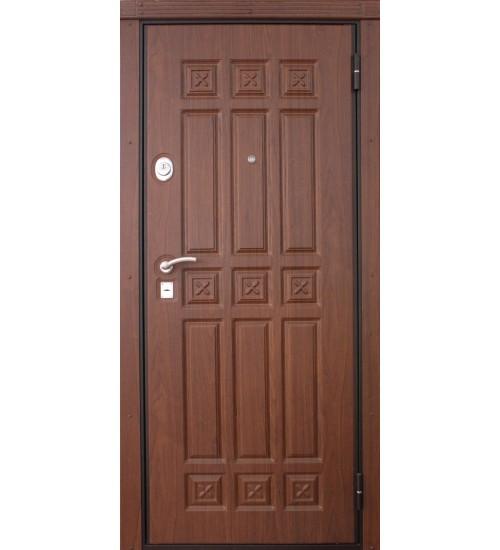 Входная дверь Алдан орех рифленый