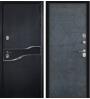 Дверь с терморазрывом Амакс термо черный шелк/бетон графит