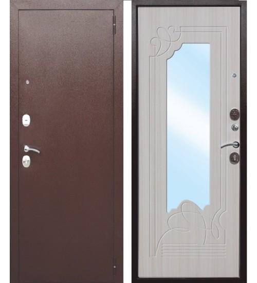Стальная дверь Ампир медь/белый ясень