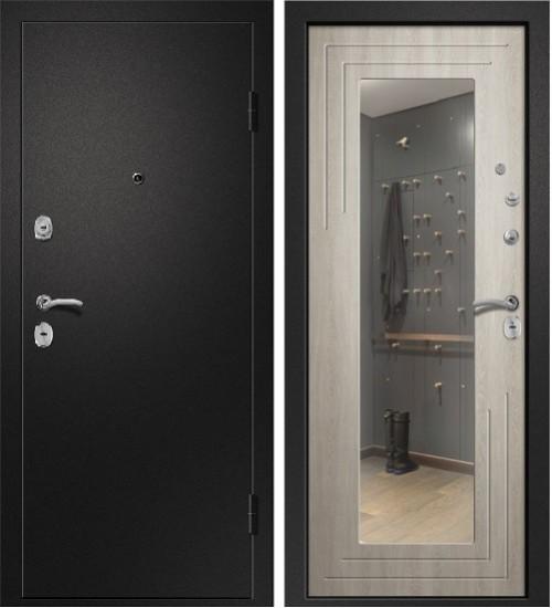 Аризона-222 сатин черный/филадельфия крем зеркало