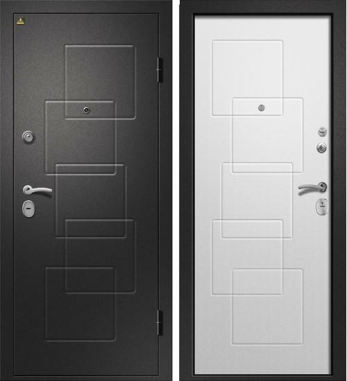 Аризона-225 сатин черный/шенил белый