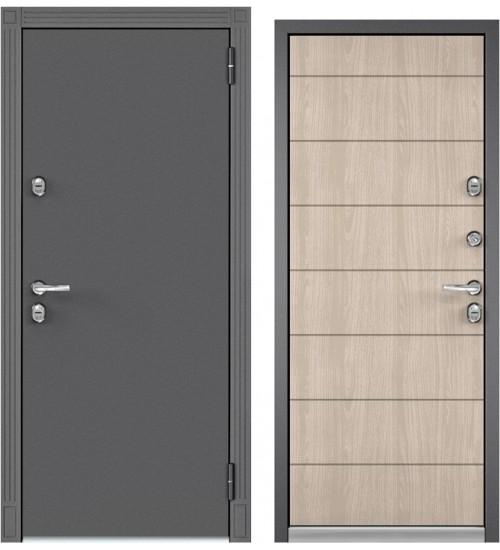 Входная дверь Бульдорс TERMO-100 букле графит/ясень ривьера айс 10Т-135