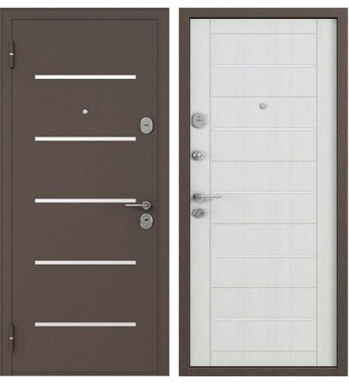Стальная дверь Бульдорс-141 медь/шамбори светлый