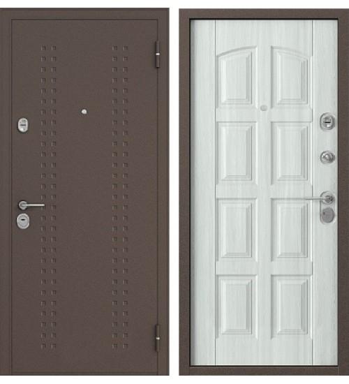 Стальная дверь Бульдорс-242 медь/дуб крем