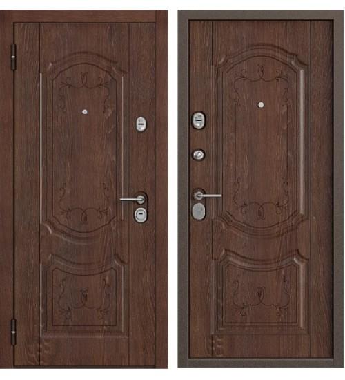 Стальная дверь Бульдорс-25 дуб коньяк