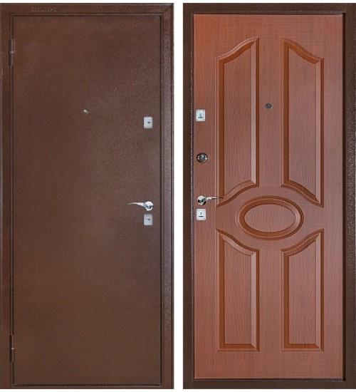 Стальная дверь Бульдорс-101 медь/лесной орех