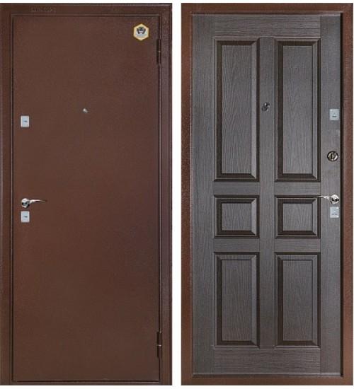 Стальная дверь Бульдорс-102 антик медь/венге