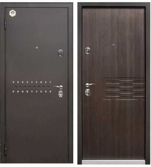 Стальная дверь Бульдорс-13 черный шелк/темный ларче