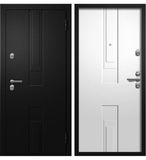 Стальная дверь Алмаз Цефей термо черный металлик/графит
