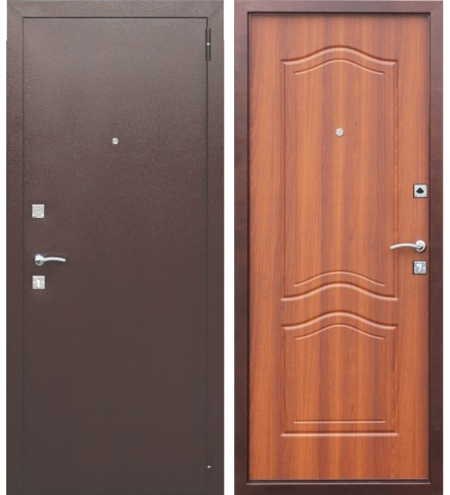 Стальная дверь Dominanta рустикальный дуб