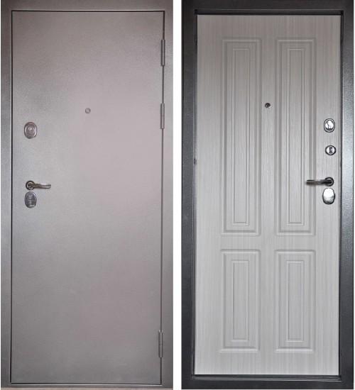 Стальная дверь Эталон люкс серебро/прованс