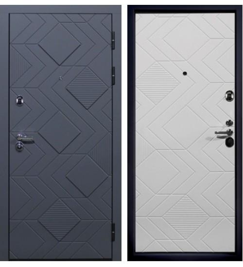 Дверь Фабио силк титан/силк сноу