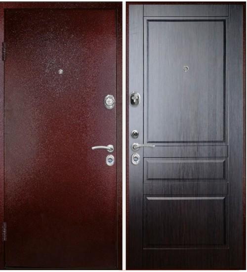 Стальная дверь Фалько Конструктор М-2 2мм медь/венге кантри