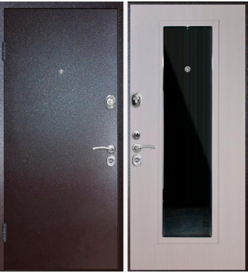 Дверь Falko Конструктор М-3 2мм белый ясень с зеркалом