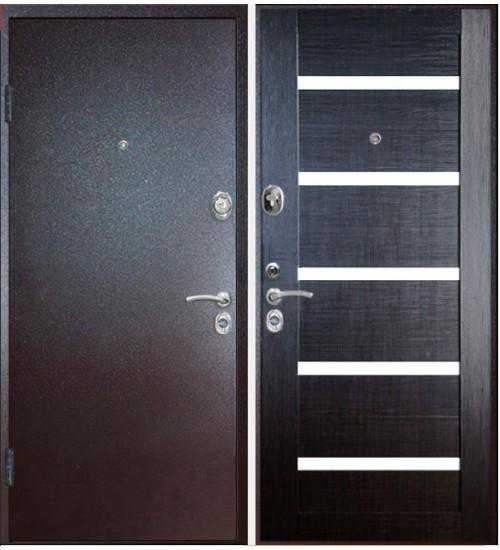 Стальная дверь Конструктор М-4 2мм капучино/венге кантри