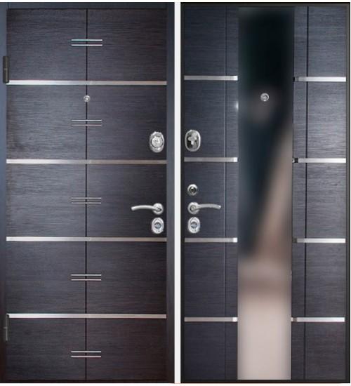 Стальная дверь Конструктор М-7 2мм венге кантри